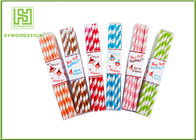 Restaurant Silver Gold Foil Paper Straws , Food Grade Paint Party City Paper Straws