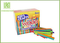 Education DIY Lollipop Natural Wood Sticks , Colored Popsicle Sticks 150 / 200mm