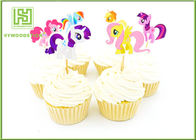 Cute Hello Kitty Cupcake Picks , Easter Zoo Animal Cake Toppers For Baby Shower