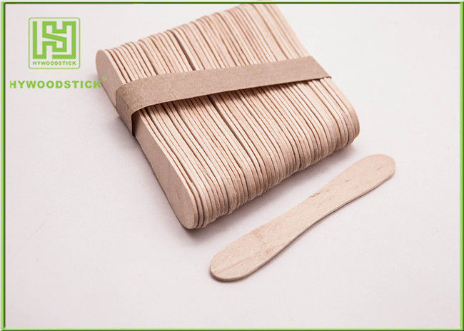Disposable Lolly Pop Ice Cream Wooden Sticks , 114mm Natural Wooden Sticks