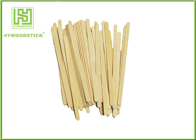 Disposable Wooden Coffee Stirrer Sticks With Paper Full Wrapped / Printing