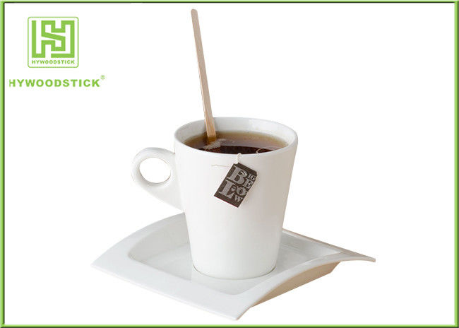 Safety Wooden Coffee Stirrer Sticks Eco - Friendly Mixed Drink Stirrers For Party