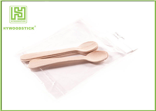Healthy Birch Wooden Disposable Cutlery , Personalized Wooden Spoon Set For Home