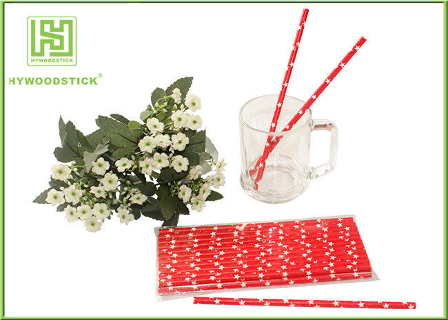 Cute Design Red And White Party Paper Straws For Hot Drinking Diameter 6mm