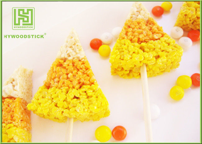 Colorful Wooden Corn Dog Sticks , Wooden Food Sticks For Baking 100pcs / Bag